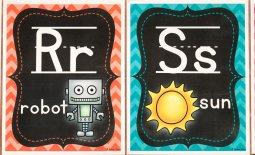 robot sun letter